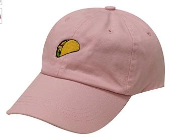 Taco emoji dad hat pink