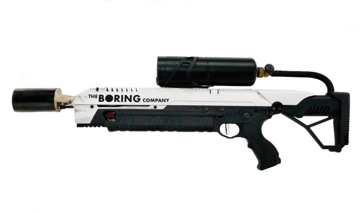 Flame thrower, The Boring Company