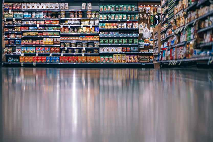 grocery store, products, aisle