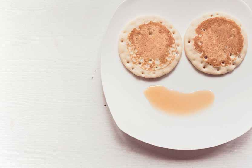 pancake, emoji, food, plate
