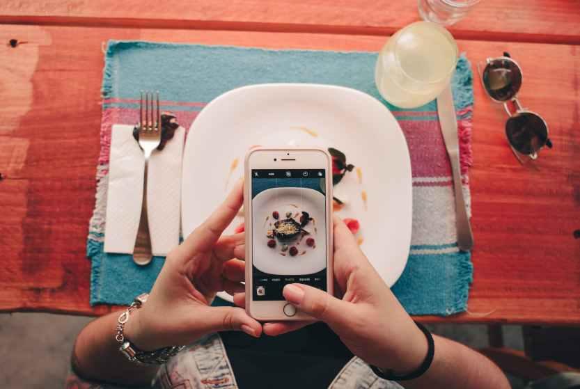 phone, food, food gram